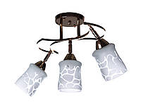 Люстра потолочная на 3 плафона Sunlight ST866 Золотистый с белым 01663, КОД: 1286695