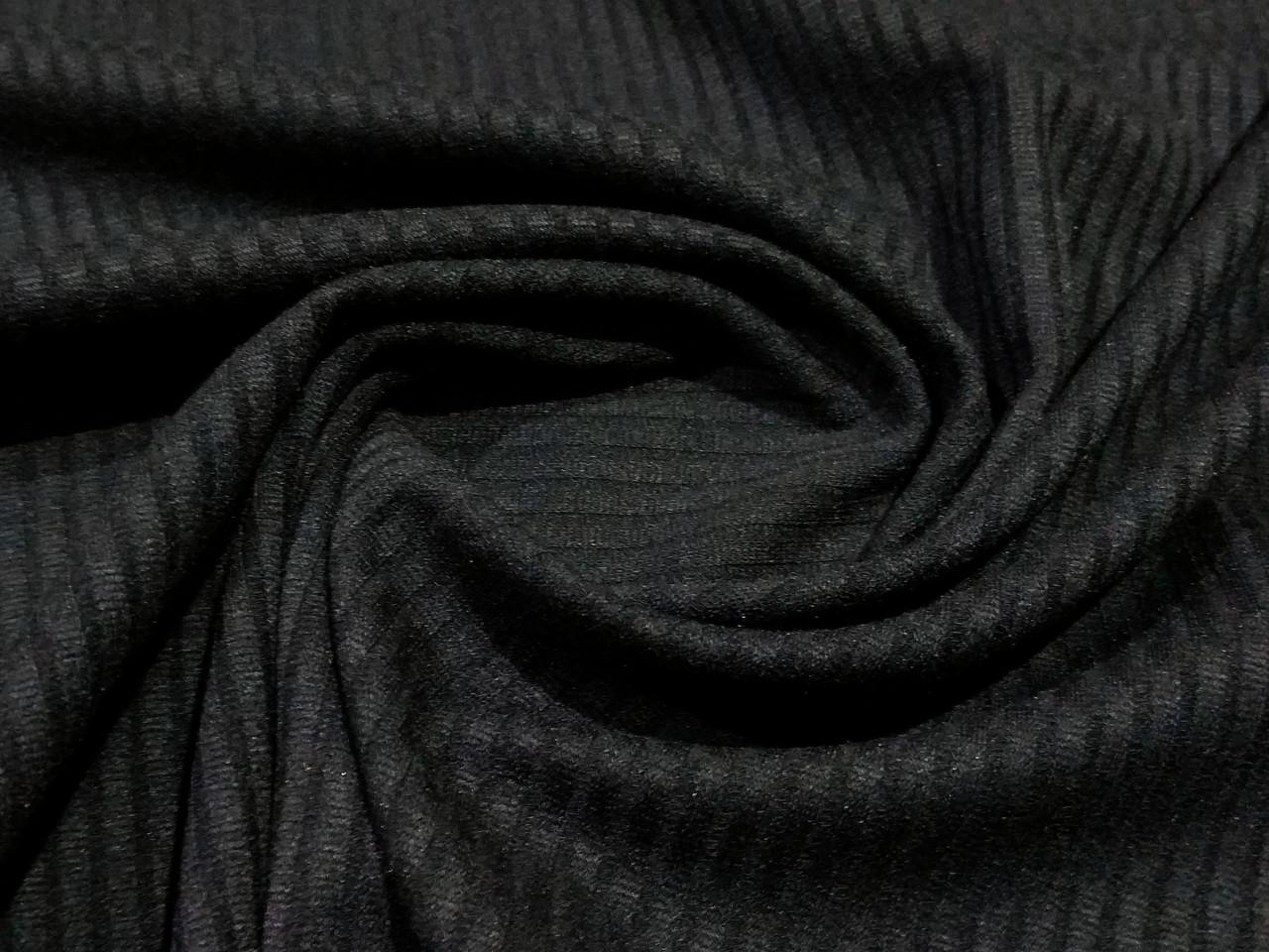Трикотаж резинка, черный