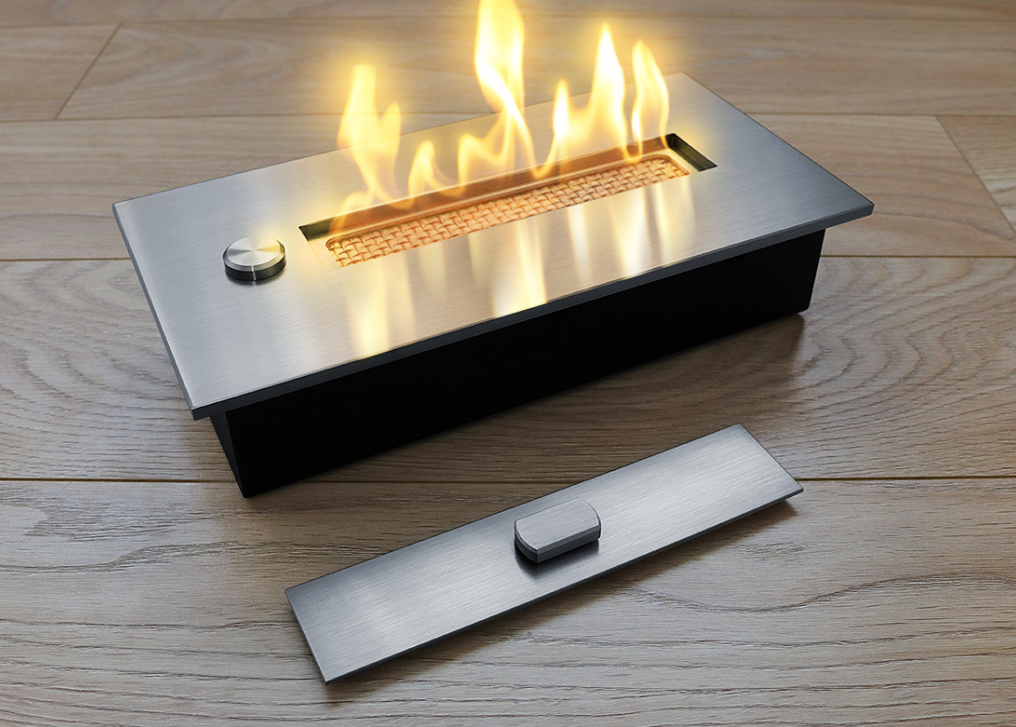 Топливный блок со стеклом Gloss Fire Алаид Style 500-С1-100