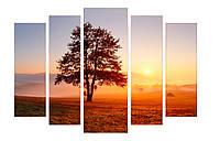 Модульная картина Декор Карпаты 120х80 см Дерево M5-P309, КОД: 184355