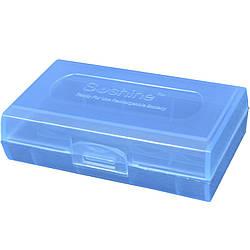 Коробочка для аккумуляторов, защитная Soshine (2x18500), синяя