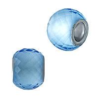 Серебряный шарм SilverBreeze с стеклом Мурано 1967652, КОД: 1194983