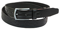 Кожаный ремень Skipper 110-130 x 3.3 см Черный 1057-33, КОД: 390023