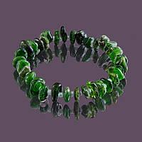 Браслет sherl Хромдиопсид Зеленый бр-хрм-003, КОД: 1022796