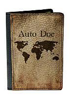 Обложка для автодокументов DevayS Maker DM 02 Карта мира Коричневая 02-0102-448, КОД: 1238568