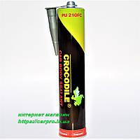Герметик поліуретановий клей ущільнюючий автомобільний для швів CROCODILE PU 210FC сірий 310 мл., фото 1