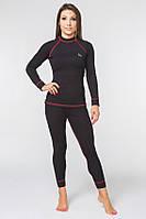 Термобелье повседневное женское Radical Rock S Черное с красным r0420, КОД: 1191937