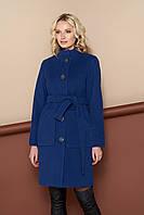 Пальто демисезонное женское 816 (синее, размер 42)