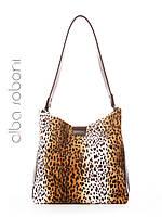 Женская сумка с вышивкой цвет леопардовый, 192901