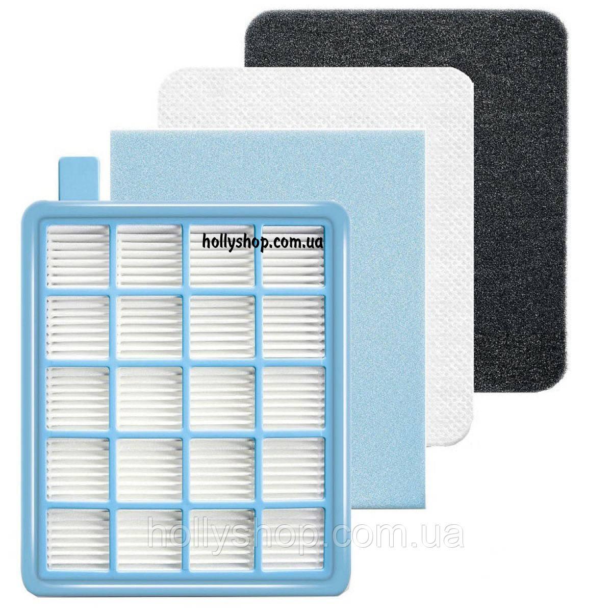 Комплект хепа фильтров для пылесоса Philips FC8474 FC8471 hepa нера - фото 1