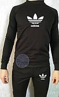 Теплый мужской спортивный костюм (флис) Adidas
