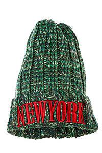 Шапка женская с надписью AG-0008330 цвет Зелено-коричневый