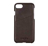 Чехол-накладка Valenta с карманом для Apple iPhone 7 8 Dark Brown С1258ip7, КОД: 1124276