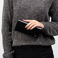 Кошелек женский кожаный лаковый Kafa с RFID защитой (AE150 black)