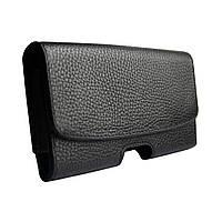 Чехол на ремень кожаный DCase SQ для телефонов до 6 дюймов Черный DC1, КОД: 1251430