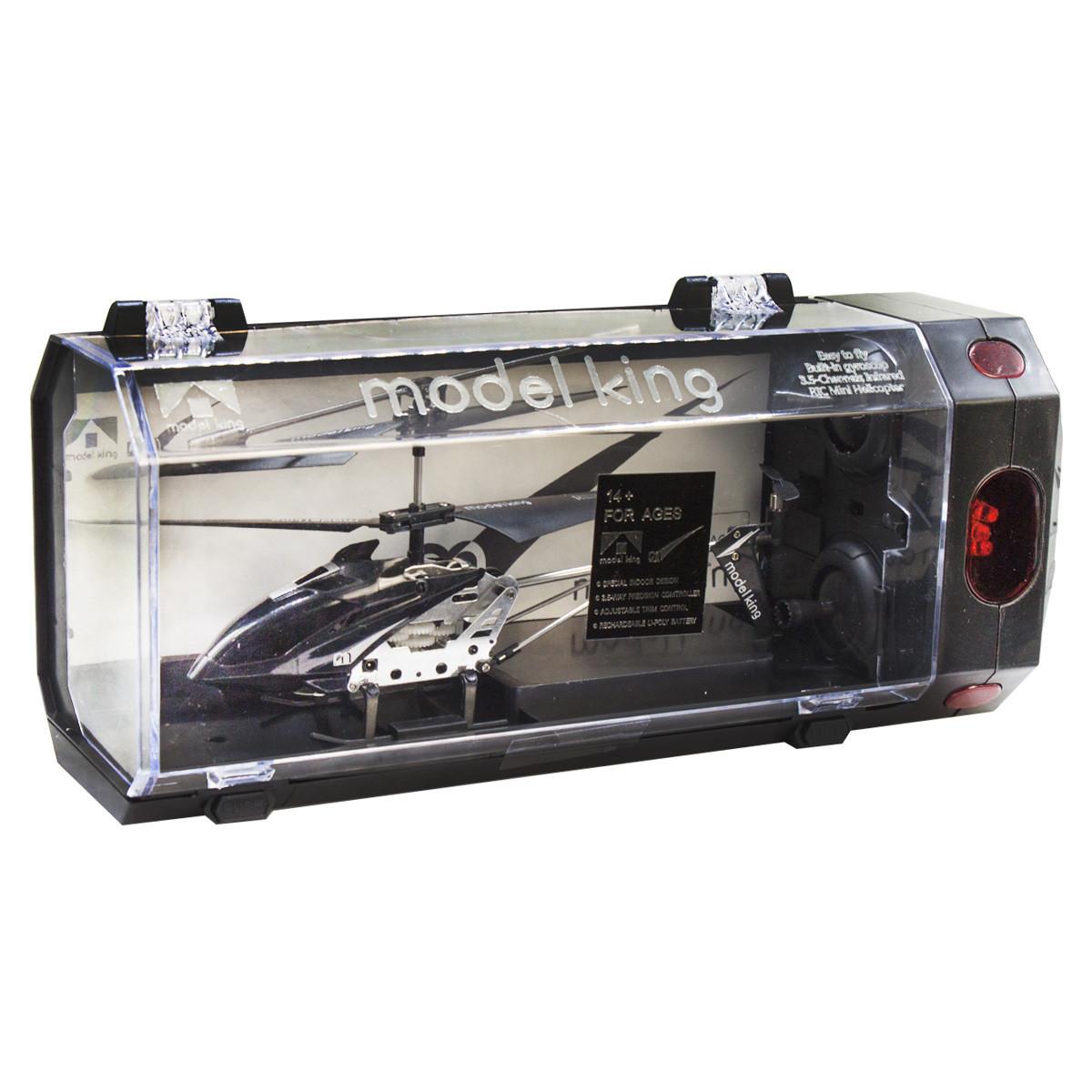 """Вертолет на радиоуправлении """"Model King"""" (черный)"""