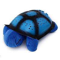 Ночник-проектор Звездная черепаха с USB и адаптером Голубой p842081005, КОД: 903762