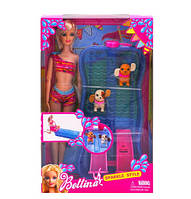 Кукла барби с бассейном и питомцами