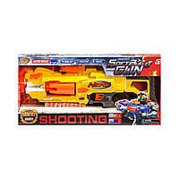 Пистолет  с мягкими  поролоновыми пулями  NERF желтый