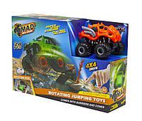 Набор Monster Wheels: Машинка с подиумом (оранжевая)