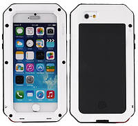 Чехол LunaTik Taktik Strike Gorilla Glass для iPhone 5 5s 5se White 4948, КОД: 136576