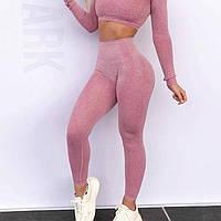 Леггинсы без швов утягивающие Sexcer, цвет: розовый, размер S/M/L
