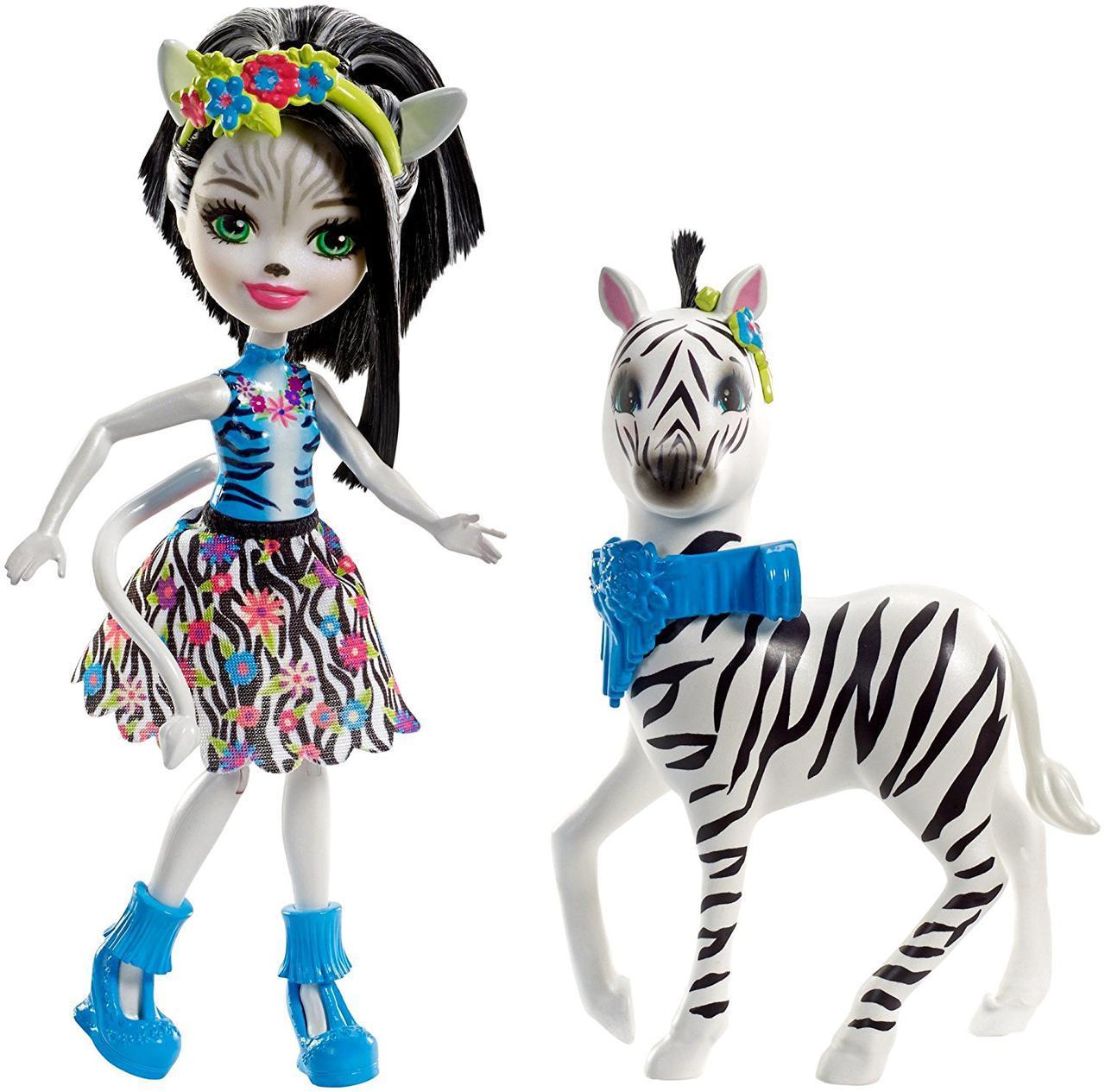Кукла Энчантималс Зелена Зебра и друг Хуфитт Enchantimals Zelena Zebra & Hoofette