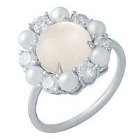 Серебряное кольцо Silver Breeze с натуральным перламутром 17 размер 1980309, КОД: 1194880