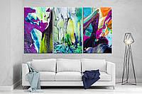 Модульная картина на холсте ProfART XL135 из трех частей 167 x 99 см Wall Art hubqQbW55478, КОД: 1225947