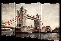 Модульная картина DK Store классическая коллекция Мост 164х106 см s331, КОД: 1224450