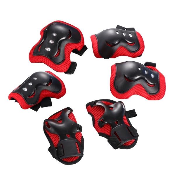 Защита детская FSK M07 (Кисти, локти, колени) (черно-красный)