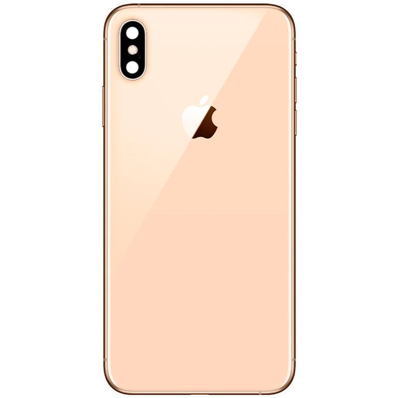 Задня кришка + скло камери iPhone XS Max Gold HC