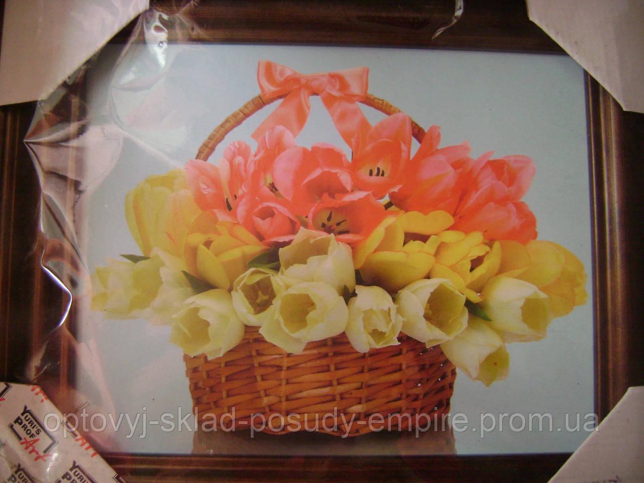 Картина 110054 Тюльпаны в корзинке