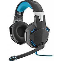Наушники Trust GXT 363 7.1 Bass Vibration Headset Black-Blue 20407, КОД: 1296466