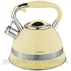 Чайник эмалированный со свистком 2.7л бежевый Klausberg 7246 BG KB