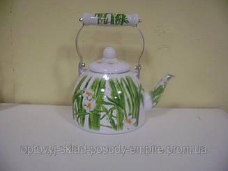 Чайник 2.0л эмалированный с керам.ручкой Zauberg 44/L Бамбук
