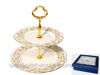 Невеста Конфетница двухярусная 3084
