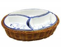 Менажниця в плетінці 3-секц.d.20 оливки