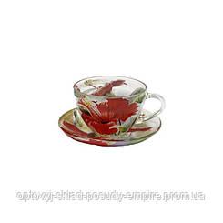"""Чайный сервиз стеклянный """"Колибри"""""""