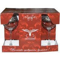 "Набор бокалов 210 мл для вина GE08-1689 ""Эдем"" рисунок ""Версаче"" 6 шт."