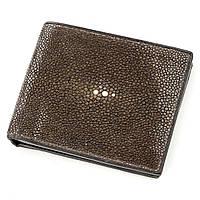 Бумажник мужской STINGRAY LEATHER из натуральной кожи морского ската Коричневый 18566, КОД: 1283151