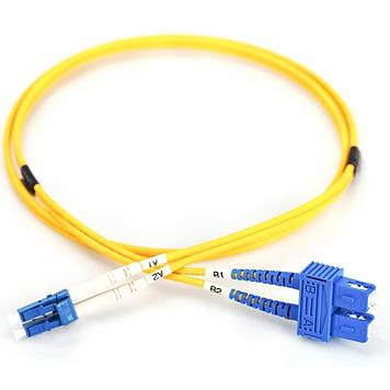 Оптический патчкорд DIGITUS LC/UPC-SC/UPC,9/125,OS2,duplex,3m (DK-2932-03)