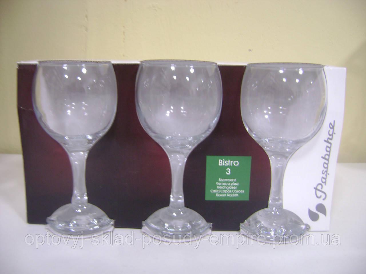 44412 Бистро набор фужеров д/вина 225 мл 1/3
