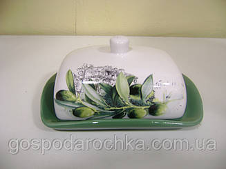 Масленка  керамическая Оливки 104074 OL