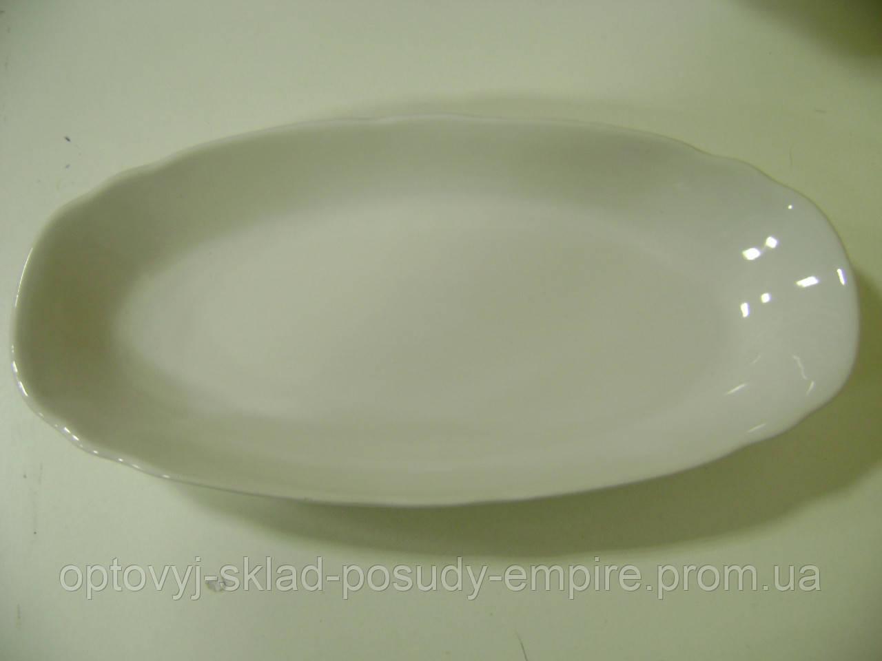 Блюдо овальное бел. 36 см