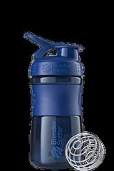 Спортивная бутылка-шейкер BlenderBottle SportMixer 590 ml Navy, КОД: 1139185