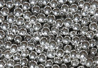 Декоративні перлини — срібло Ø5 - 200 г