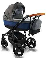 Дитяча коляска BEXA Ultra U103 Сіра з синім 3072018042, КОД: 125634