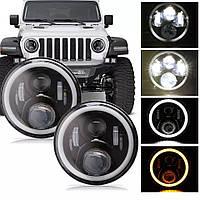 Цена за 2 шт.Фары светодиодные НИВА 2121-21213, ВАЗ 2101-2102, ГАЗ 24, УАЗ 469, Jeep Wrangler