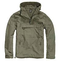 Куртка ветровка Brandit Windbreaker OLIVE L Зеленый 3001.1-L, КОД: 705779